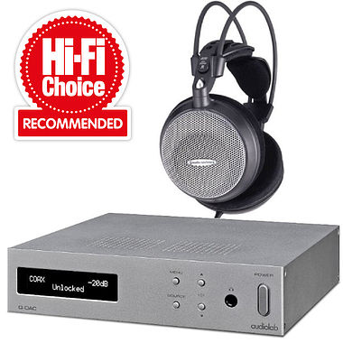 Award winning ATH-AD500 Headphones with Audiolab Q-DAC / Amp System