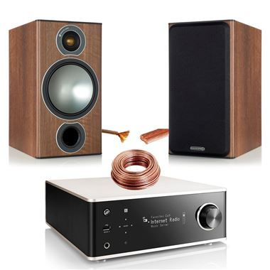 Denon DRA-100 Network HiFi with Monitor Audio Bronze 2 Speakers