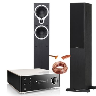 Denon DRA-100 HiFi System with Tannoy Eclipse 3 Speakers