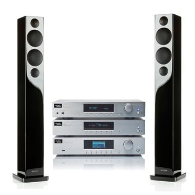 Mitchell and Johnson Digital Amplifier, CD and Network Player with Monitor Audio R270 Speakers