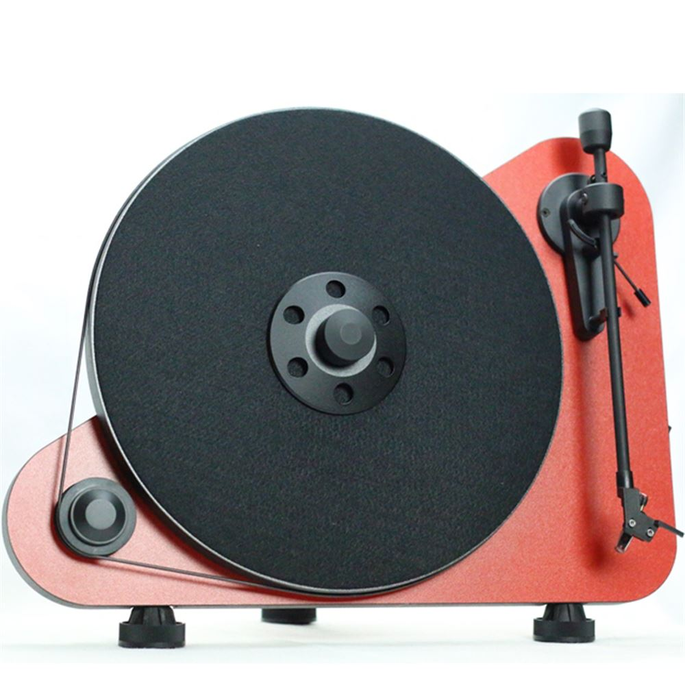 Project VTE Vertical Turntable Red