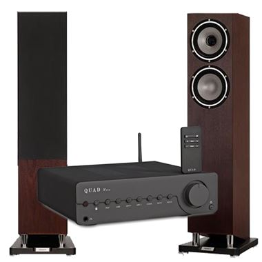 Tannoy XT 6F Speakers with Quad Vena Bluetooth Amplifier
