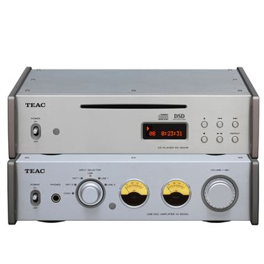 Ex Display TEAC AI-501 Amplifier with PD-H501 CD Player in Silver