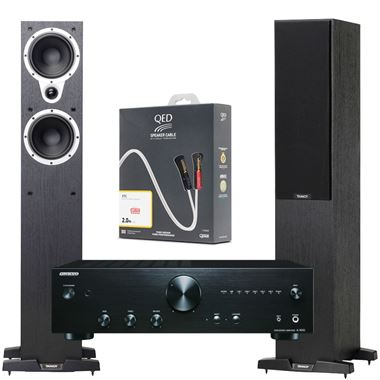 Tannoy Eclipse 3 speakers with Onkyo A9010 amp & QED Cables