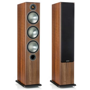 Ex Display Monitor Audio Bronze 6 Floorstanding Speakers in Black