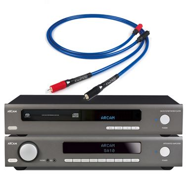 Arcam SA10 Amplifier with CDS50 CD/Music Streamer and Chord Cable