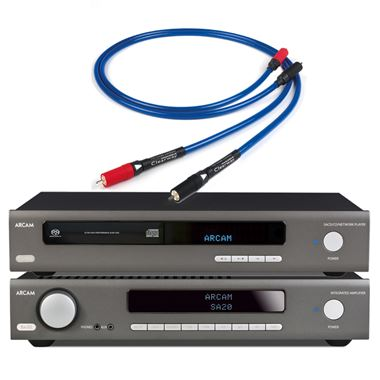 Arcam SA20 Amplifier with CDS50 CD/Music Streamer and Chord Cable