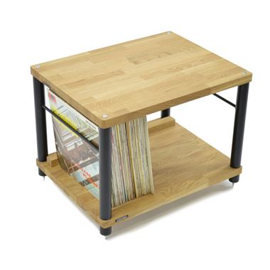 Atacama Apollo Storm 6 2 Shelf Table with Record Storage