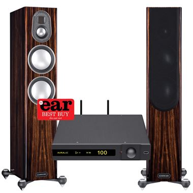 AURALiC Polaris 180w Streaming System with Monitor Audio Gold 200 Speakers