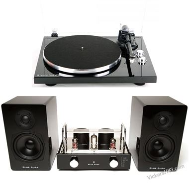 Blue Aura V40 Complete Valve Vinyl System with turntable, speakers and Bluetooth input