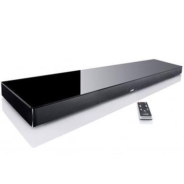 Canton DM100 Glass Top Digital Movie TV Sound Base with Bluetooth.
