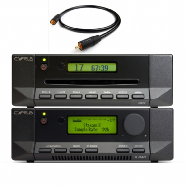 Cyrus 6 DAC Digital Amplifier with CD-t CD transport and Optical Cable