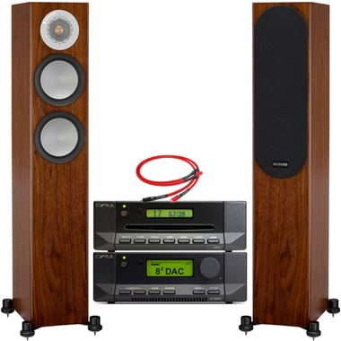 Cyrus 82 DAC with CDi and Monitor Audio Silver 200 Speakers