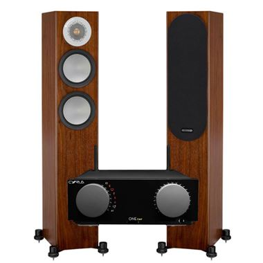 Cyrus ONE Cast Streaming System with Monitor Audio Silver 200 speakers