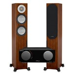Cyrus ONE Streaming System with Chromecast and Monitor Audio Silver 200 speakers