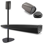 HEOS Wireless AV Pack inc. Sound BAR, HEOS 1 Speakers with batteries & Stands
