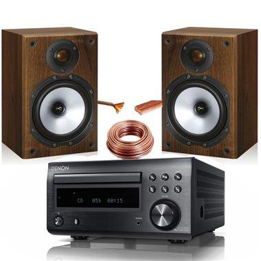 Denon RCDM41 with Monitor Audio MR1
