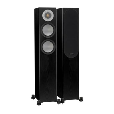 Ex Display Monitor Audio Silver 200 Speakers in Black Oak