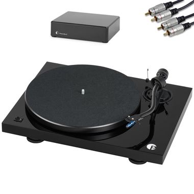 Pro-Ject Debut III S Audiophile Turntable inc. Lid, Phono Box E and Cables