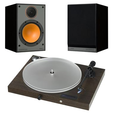 Pro-Ject Juke Box S2 turntable system with Monitor Audio M100 Speakers