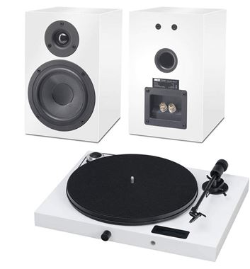 Pro-Ject Juke Box E all-in-one turntable Bluetooth Streaming system with optional matching speakers