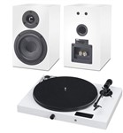 Project Juke Box E all-in-one turntable system with optional matching speakers