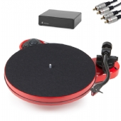 Project RPM 1 Carbon Turntable inc. Ortofon 2M Red, Phono PreAmp & Cables