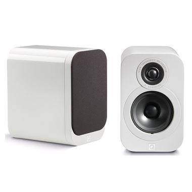 Q Acoustics 3010 Luxury Version Bookshelf Speakers in Gloss White