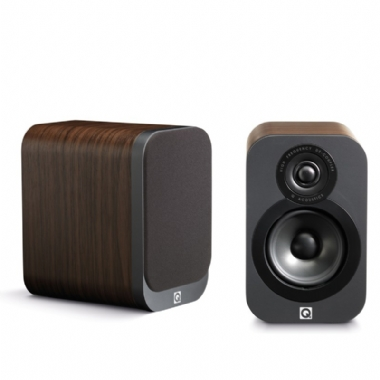 Q Acoustics 3010 Bookshelf Speakers in Walnut