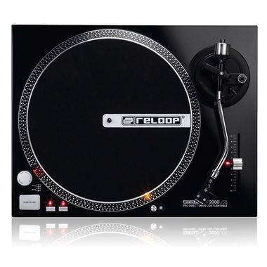 Ex Display Reloop RP-2000USB Direct Drive USB Turntable inc. Perspex Lid