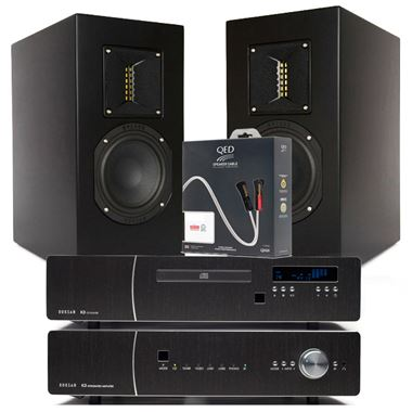 Roksan K3 CD and Amplifier with TR-5 Speakers and QED Cables