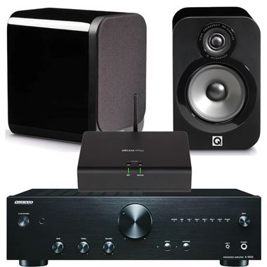 Arcam rPlay Streaming System with Onkyo A9010 and Q-Acoustics