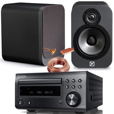 5 Star Reviewed Denon DM41 (RCD-M41DAB) system with Q Acoustics 3020 Speakers