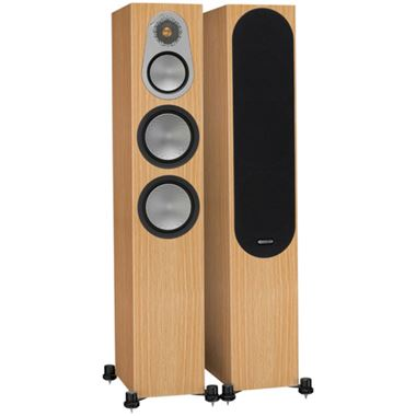 Ex Display Monitor Audio Silver 300 Floorstanding Speakers in Natural Oak