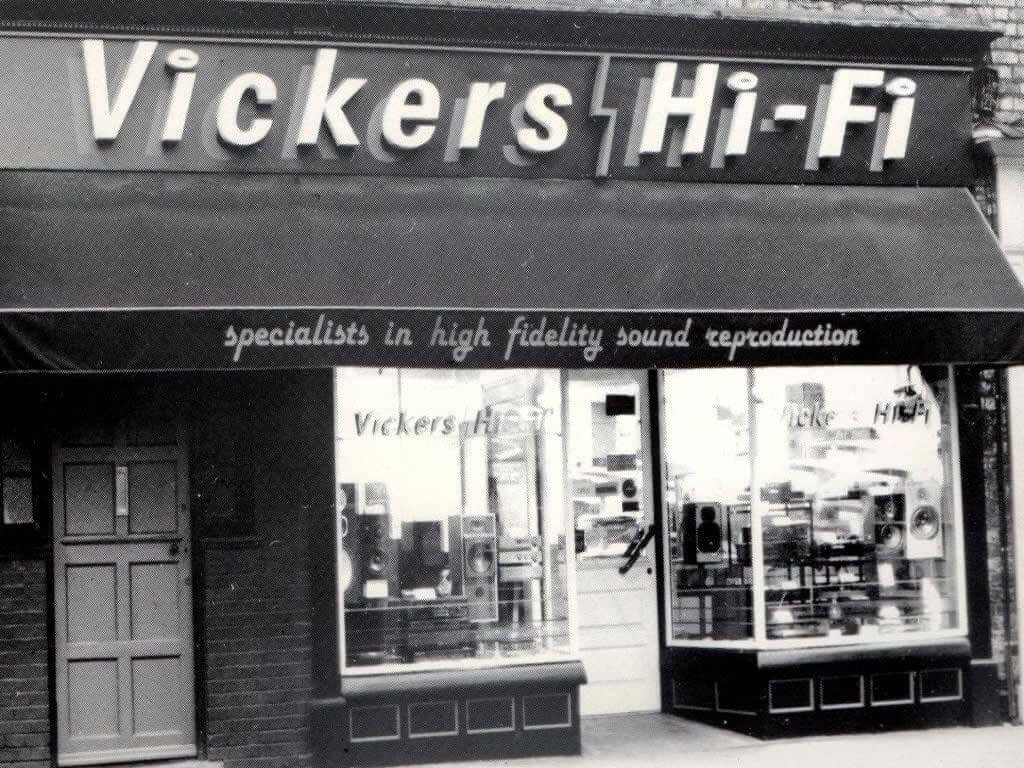 Vickers HiFi Shop in Gillygate, York c 1988