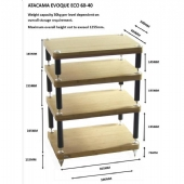 Atacama Evoque Eco 60-40 4 Tier HiFi Support
