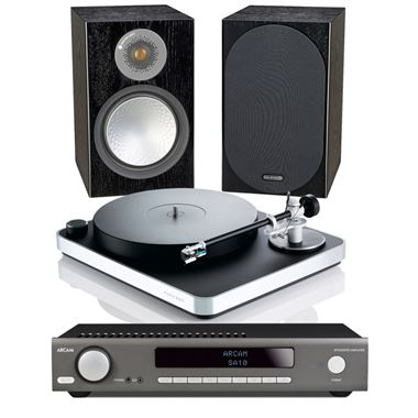 Clearaudio Concept Turntable package with Arcam SA10 and Monitor Audio Silver 50 Speakers and Cables