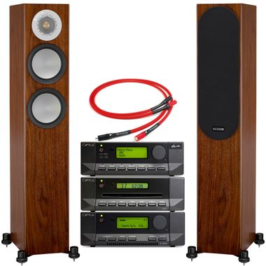 Cyrus 82 DAC with CDi and Stream X Signature and Monitor Audio Silver 200 Speakers