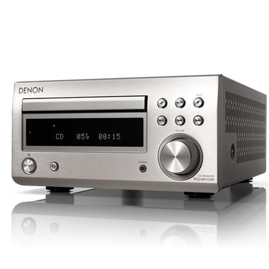 Denon DM41 DAB Mini HiFi in Silver