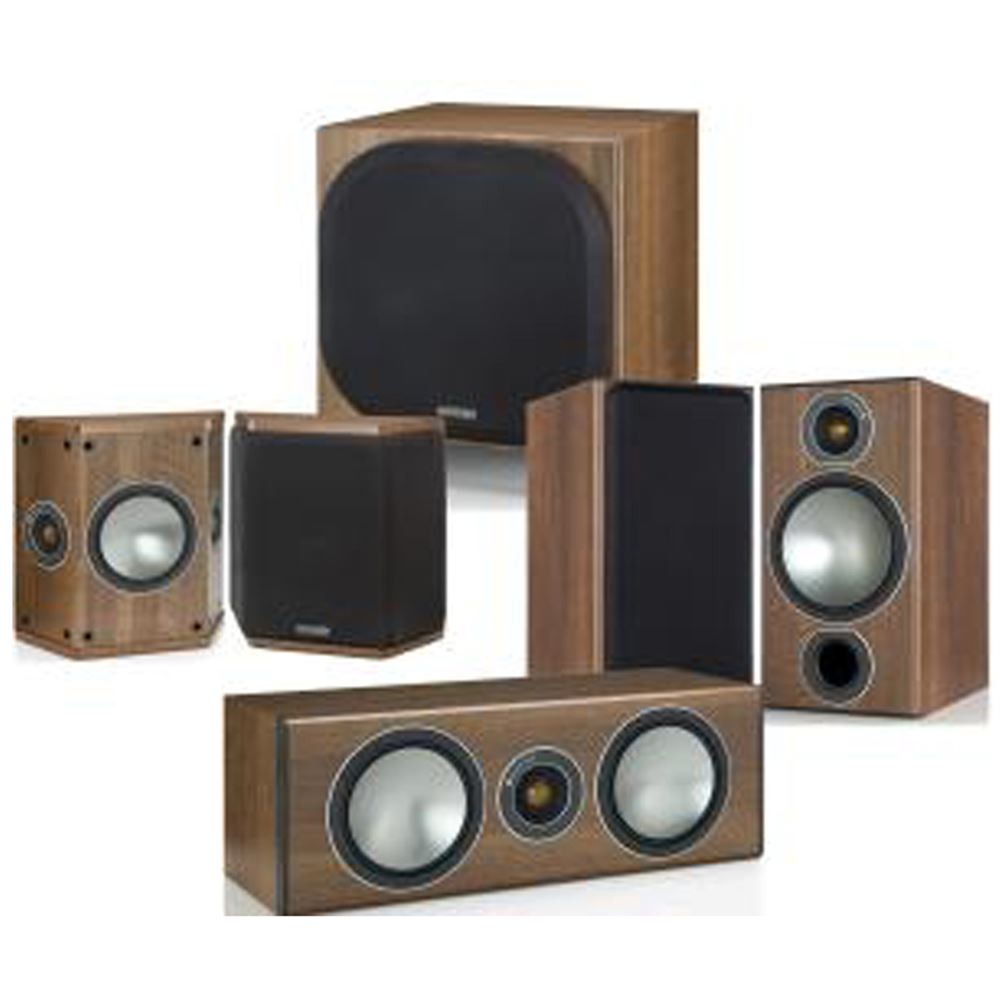 Monitor Audio Bronze 2 51 Home Cinema Av Speaker Package From 6 Walnut Pack