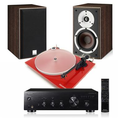 Pro-Ject Essential IIIA System with Pioneer A30 and Dali Spektor 2 Speakers