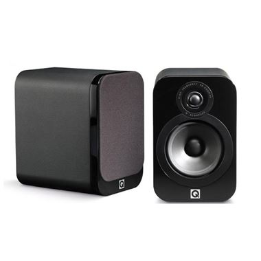 Q Acoustics 3010 Bookshelf Speakers Luxury Version in Gloss Black