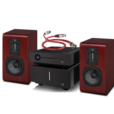 Quad Artera Play+ CD / USB / Pre Amp and Stereo Power Amplifier with S2 Speakers and Free cables