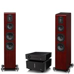 Quad Artera Play+ CD / USB / Pre Amp and Stereo Power Amplifier with S4 Speakers and Free cables