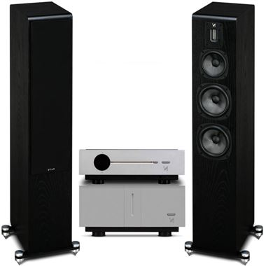Quad Artera Play+ CD / USB / Pre Amp and Stereo Power Amplifier with S5 Speakers and Free cables