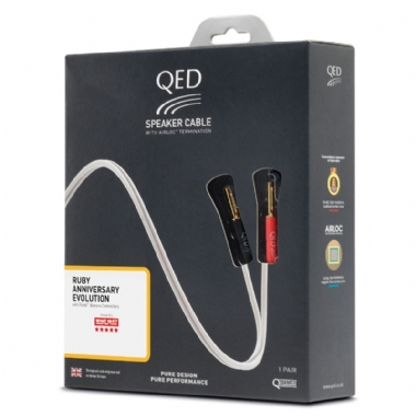QED Ruby Anniversary Evolution Pre-Packaged Airloc Terminated Speaker Cables