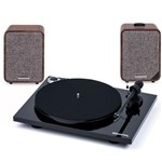 Ruark Audio MR1 Mk2 Active Bluetooth Speakers with Pro-Ject Essential Turntable