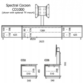 Spectral Cocoon Co1000 TV Cabinet