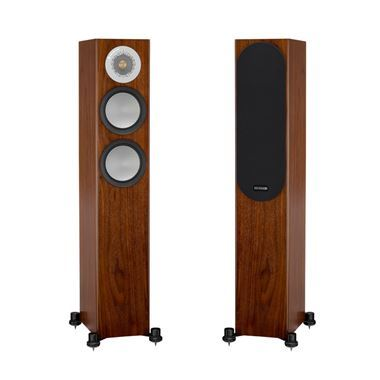 Ex Display Monitor Audio Silver 200 Speakers in Walnut