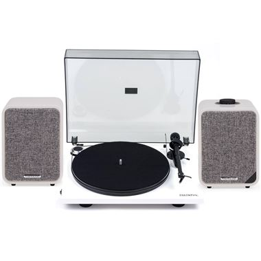 Ruark Audio MR1 Mk2 Active Bluetooth Speakers with Project Essential Turntable